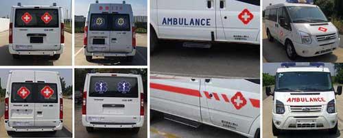 全顺救护车图片