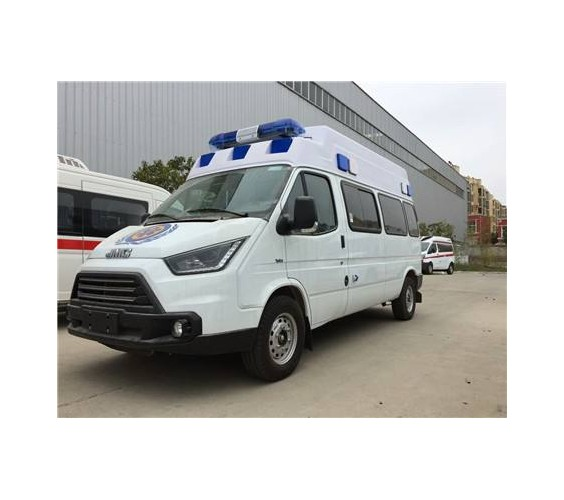 国六江铃特顺短轴转运型救护车