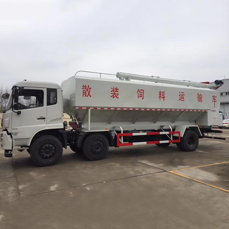 (国六)东风天锦18吨散装饲料运输车_国六饲料车报价15271321777